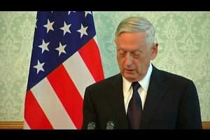 Jim Mattis arrives in Afghanistan as rockets hit Kabul airport