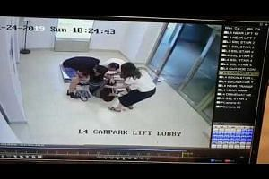 Door falls onto woman at carpark lift lobby of Alexandra Central Mall