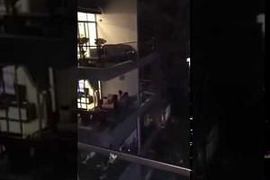 Residents in Telok Blangah singing Home at 7.55pm on April 25
