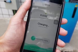 Preview of SingPower's electric vehicle charging point