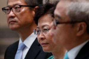 Carrie Lam says violent protests are destroying Hong Kong's economy
