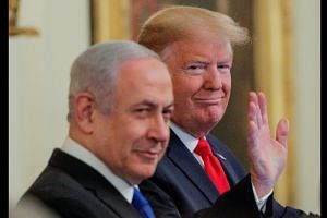 Trump: Israel taking 'giant step' towards peace in new plan