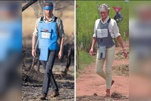 Prince Harry follows in Diana's footsteps in Angola
