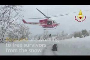 Survivors found under avalanche that hit Italian hotel