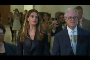 Hope Hicks arrives for Congress grilling
