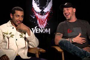 Tom Hardy, Riz Ahmed joke about Venom's place in MCU