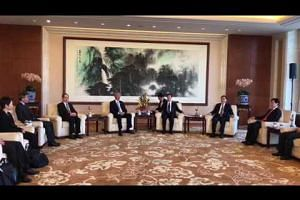 Chinese vice-premier Zhang Gaoli welcomed DPM Teo Chee Hean and delegation