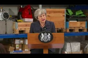 Reporter quips at British PM Theresa May on Women's Day after Brexit speech