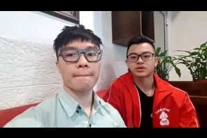 Matthew and Marcus Yap send a message from Minsk airport