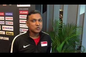 Interview with Lions coach V Sundramoorthy before Thailand game (AFF Suzuki Cup 2016 group stage)