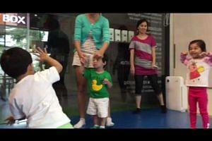 Children at Edugrove Mandarin Enrichment Centre learn Mandarin through song, dance and stories