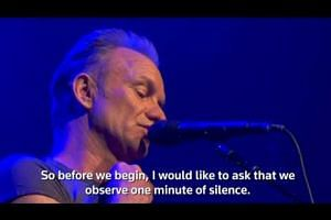 Sting performs at Paris' Bataclan music hall