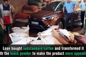 Vietnamese facility busted for dyeing coffee with black powder from used battery