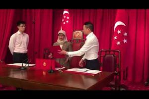 Madam Halimah Yacob given a tour of the President's Office and Istana grounds