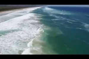 Drone rescues two teenagers from Australian surf