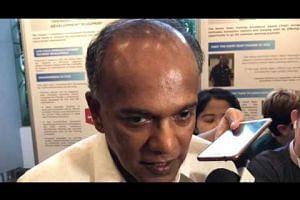 Shanmugam commenting on terrorism