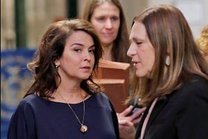 Actress Annabella Sciorra arrives for testimony in Weinstein rape trial