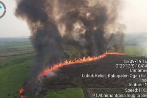 Forest fires in South Sumatra