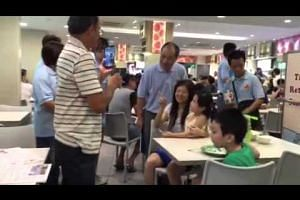 Workers' Party Low Thia Kiang on a walkabout at Rivervale Plaza