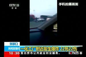 China blast kills at least 22 people
