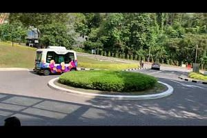 Launch of NUSmart Shuttle bus trial at NUS on July 29, 2019
