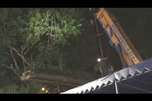 Overhead bridge in Balestier being dismantled 2