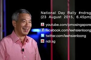 Tune in to National Day Rally 2015 on 23 Aug, 6.45pm