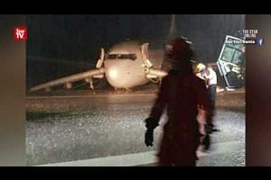 Passengers stranded at Sibu Airport after plane skidding incident