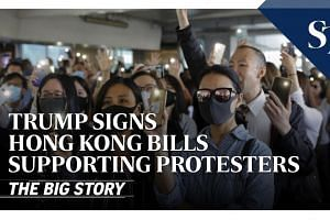 Trump signs Hong Kong bills supporting protesters | THE BIG STORY | The Straits Times