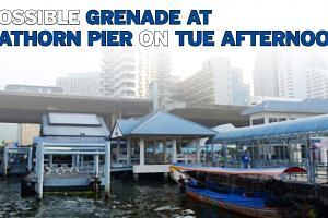 Possible grenade at Sathorn Pier on Tue afternoon