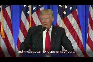 Trump blames US intelligence for Russia dossier leak