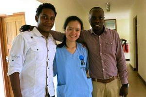 Ms Megan Loy in Tanzania last year. She helped deliver babies.