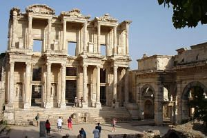 The Library of Celsus is one of the monuments from the Roman imperial period.