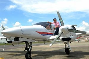 Mr Gregory Ang's Diamond DA-42 Twin Star is the third aircraft he has owned.