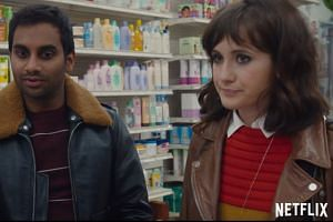 Netflix Singapore offerings include Master Of None, starring Aziz Ansari and Noel Wells (both left).