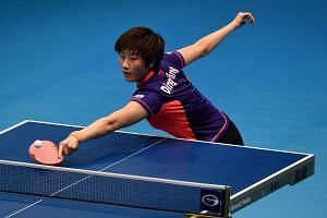 Ding Ning in action during the ITTF World Tour Grand Finals in December. The current world No. 2 learnt from Singapore's stunning win over China in 2010 how to maintain her composure during matches when things did not go her way.