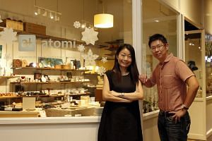 Husband and wife co-founders of Japanese lifestyle store atomi, Andrew Tan and Mitsuko Murano.
