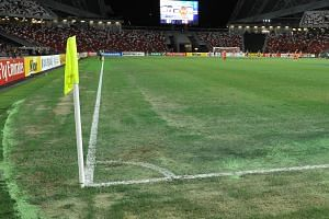 Sections of the National Stadium pitch appeared to be sandy.