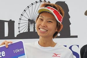 Kenyan Margaret Njuguna took the top spot in the 18.45km women's category with a time of 1hr 11min 21sec. Singaporean Jasmine Goh finished her run in 40min 33sec, winning the 10km women's category after a Kenyan runner was disqualified. Kenyan Stephe