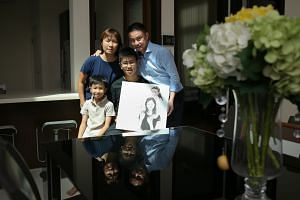 """Emyr Uzayr, who suffered a fractured skull, now attends Tanjong Katong Secondary School. """"Education and grades are not the No. 1 priorities any more,"""" says his father. Every day, banker James Ho, who lost his daughter Rachel in the earthquake, looks"""