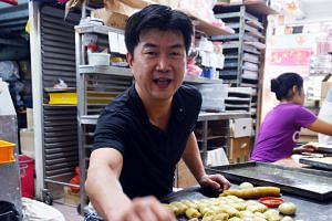 Mr Lim runs Gin Thye Cake Maker, a traditional Chinese pastries shop in Sembawang Road, with his mother. The shop, which sells baked goods, is one of only a handful that still exist.