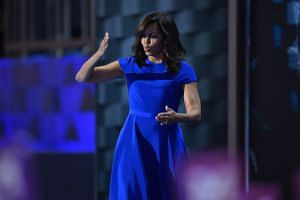 United States First Lady Michelle Obama's choice of a dress from Christian Siriano, a designer who built his career on being inclusive, may not have been a coincidence on the first night of the Democratic National Convention.