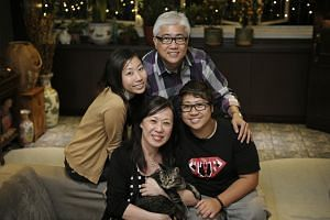 This photograph, taken in 2012, shows Bernard Goh with (from left) his daughter Marisa, wife Rose and multiple Paralympian Theresa. The sisters have another sibling, a brother, Nicholas. Even at the tender age of three, Theresa was already showing he