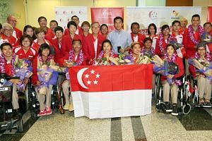 Eleven of Team Singapore's Paralympians, including medallists Yip Pin Xiu and Theresa Goh, will be waving to crowds in a celebratory parade from Sengkang Sports Centre to VivoCity tomorrow.