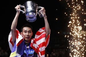 Malaysian badminton great Lee Chong Wei lifting the All England trophy. The world No. 1's love affair with the sport's oldest tournament continued yesterday, as he won the title for the second time in four years. The 34-year-old was also the champion