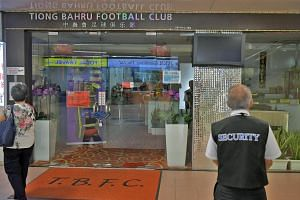 The Tiong Bahru Football Club at People's Park Centre was not in operation yesterday, a day after it was raided by police.