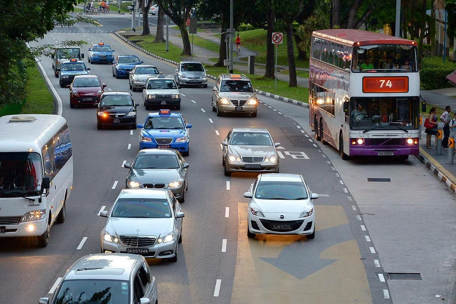 Bus lane along Ang Mo Kio Avenue 6 , off street 24. The Land Transport Authority (LTA) will expand two measures that give buses more priority on the roads. Transport Minister Lui Tuck Yew on Monday launched a refreshed transport masterplan, five year