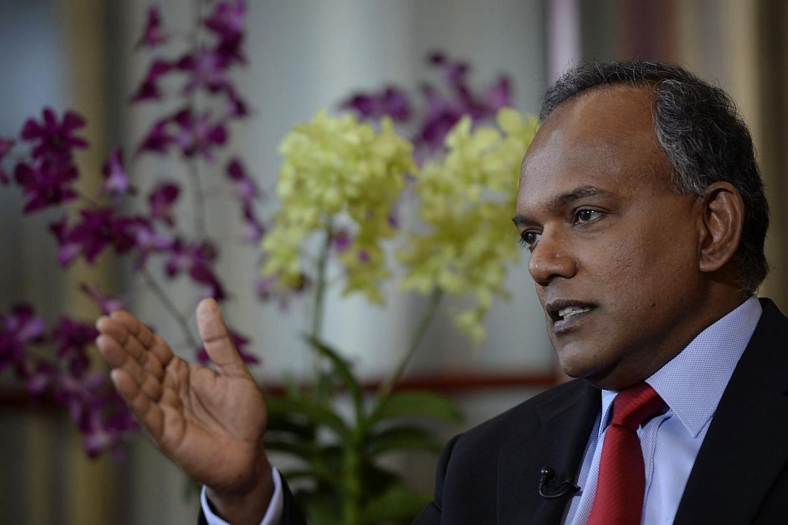 Foreign Minister K. Shanmugam (above) has welcomed as constructive his Indonesian counterpart's stance that there was no ill will or malice intended in Indonesia's naming of a warship after two marines who carried out a bombing in Orchard Road that k