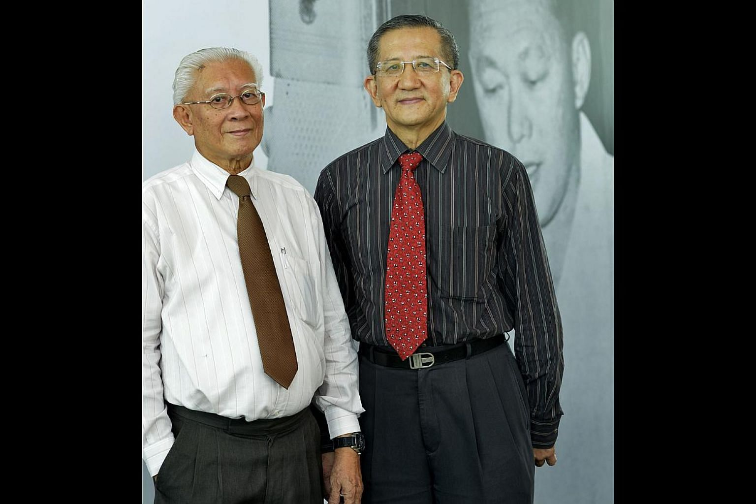 Mr Patrick Ng (left) listened to his family's discussions of Mr Lee's radio broadcasts while Mr Lim Eng Chuan recalled the conviction with which Mr Lee delivered his speeches.