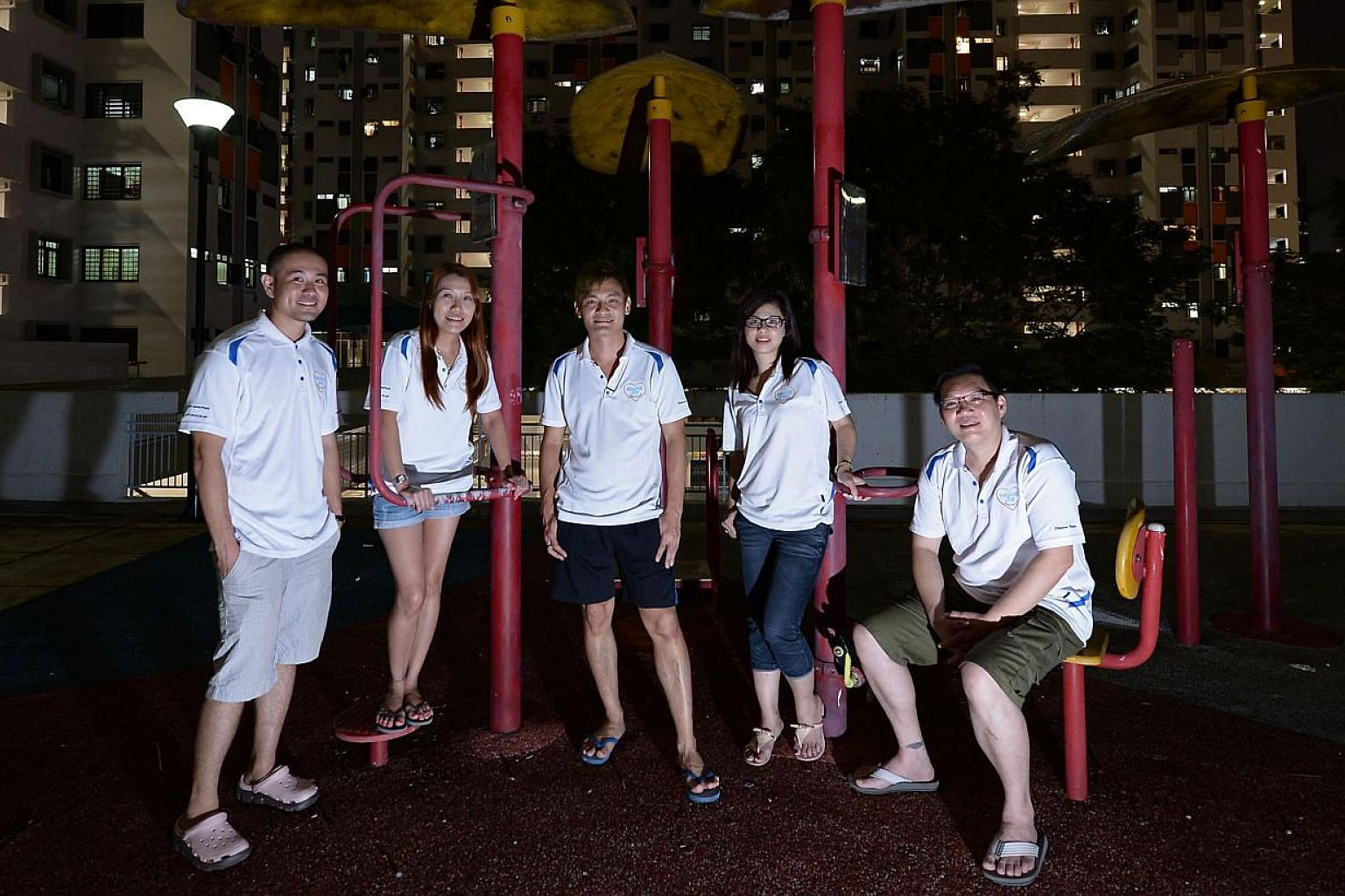 Some of Helping Joy's volunteers (from left) Roy Yuan, 32, Irene Soon, 36, Steven Goh, 36, Amy Tay, 44, and Nelson Ong, 40. Mr Goh founded the group with friends in 2012, and it now has about 20 regular volunteers. On Sunday, the group will be giving